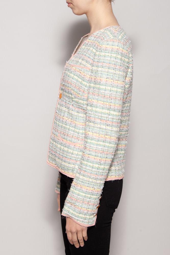 Chanel PASTEL SILK & TWEED BLAZER