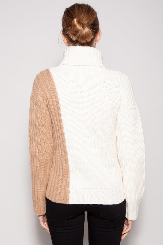 Naadam COLORBLOCK WOOL & CASHMERE PULLOVER - NEW WITH TAG