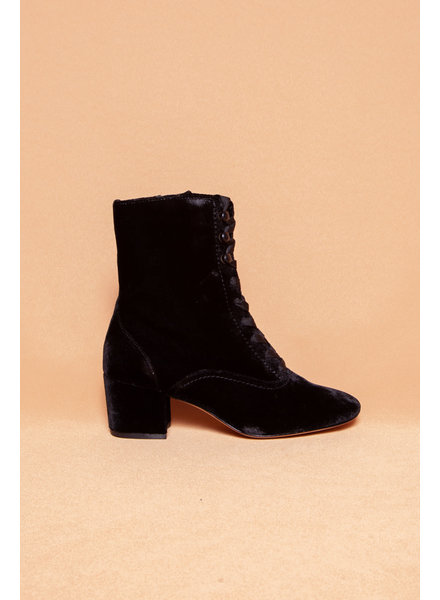 Joie YULIA BLACK VELVET BOOTIES - NEW