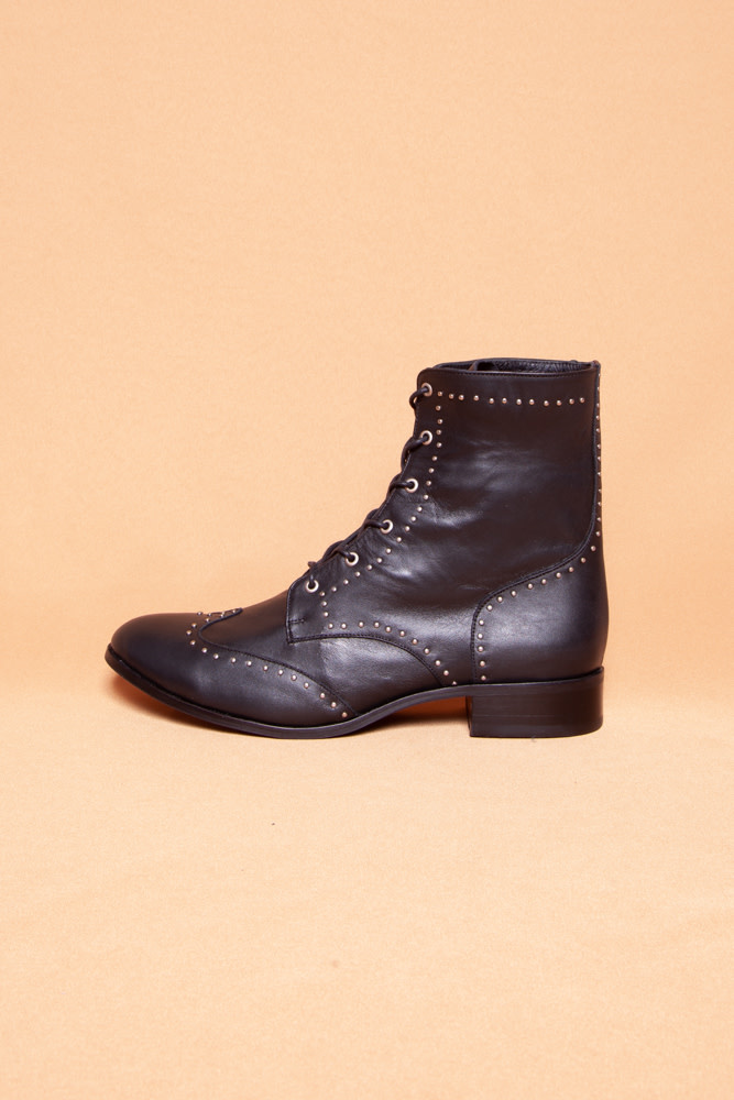 Cartel COLIMA BLACK STUDDED BOOTIES - NEW