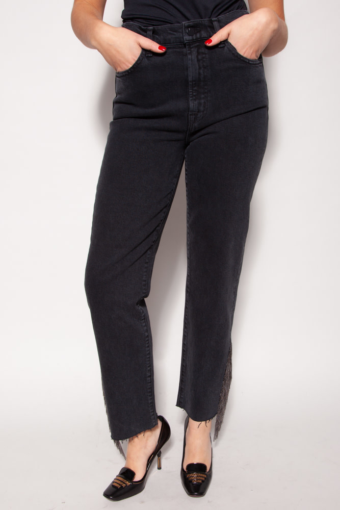 J Brand BLACK HIGH RAISE CHAIN EFFECT JEANS - NEW WITH TAG
