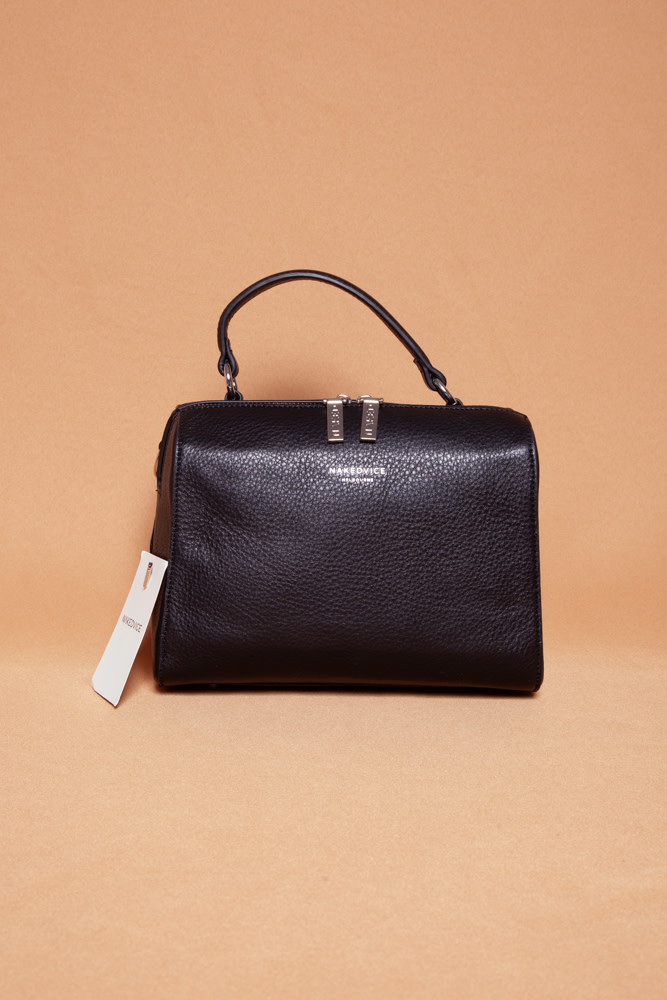 nakedvice SMALL BLACK LEATHER CROSS BODY BAG - NEW WITH TAG