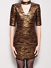 Alice + Olivia BLACK AND GOLD SEQUINED DRESS - NEW