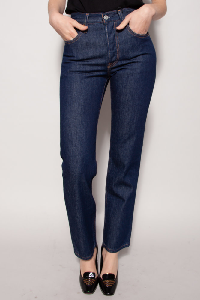 Levi's HIGH WAIST STRAIGHT DARK BLUE JEANS - NEW WITH TAG