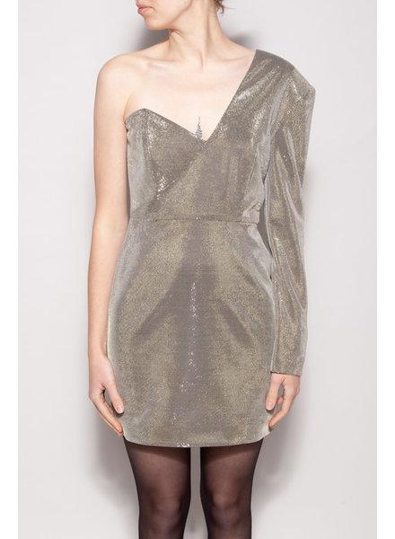 Michelle Mason ASYMMETRIC SPARKLY DRESS - NEW