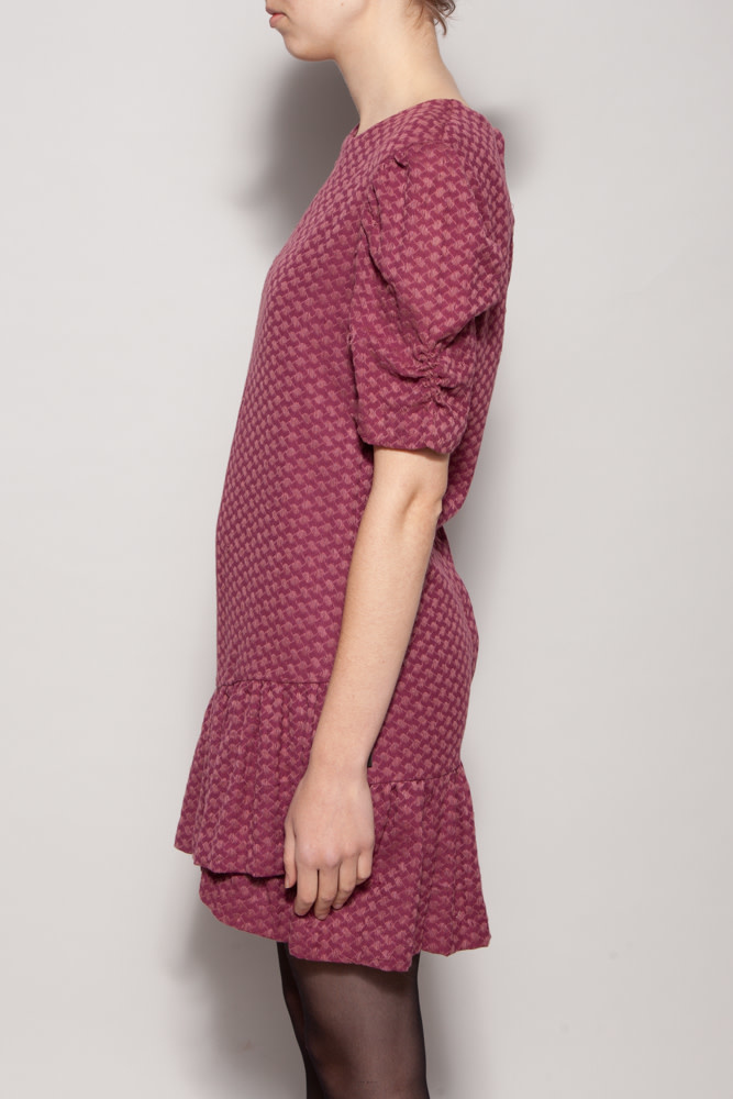 Rough Studios NEW PRICE (WAS $95) - PINK PRINT DRESS WITH PUFFY SLEEVES - NEW WITH TAG