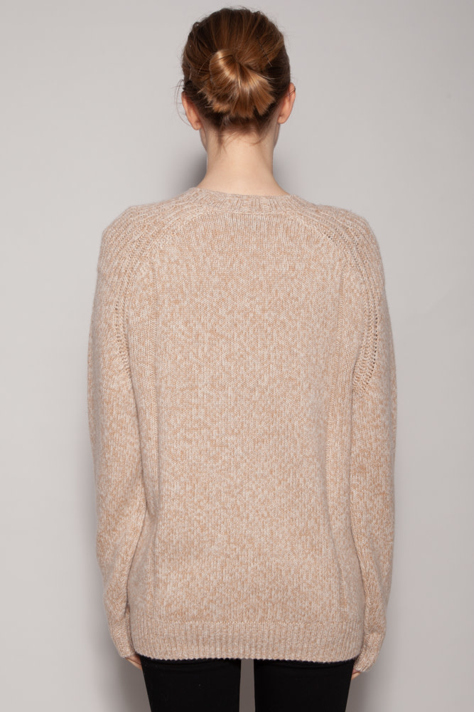 Naadam OATMEAL CASHMERE & WOOL PULLOVER - NEW WITH TAG