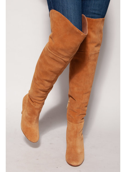 Joie BENTLEE CHESTNUT HIGH SUEDE BOOTIES - NEW