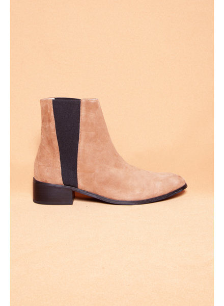 Raye NEW PRICE (WERE $110) - CELESTE TAN SUEDE BOOTIES - NEW