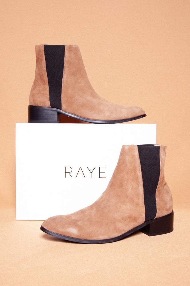 Raye CELESTE TAN SUEDE BOOTIES - NEW