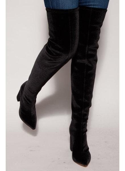 Raye BLACK VELVET BOOTS - NEW