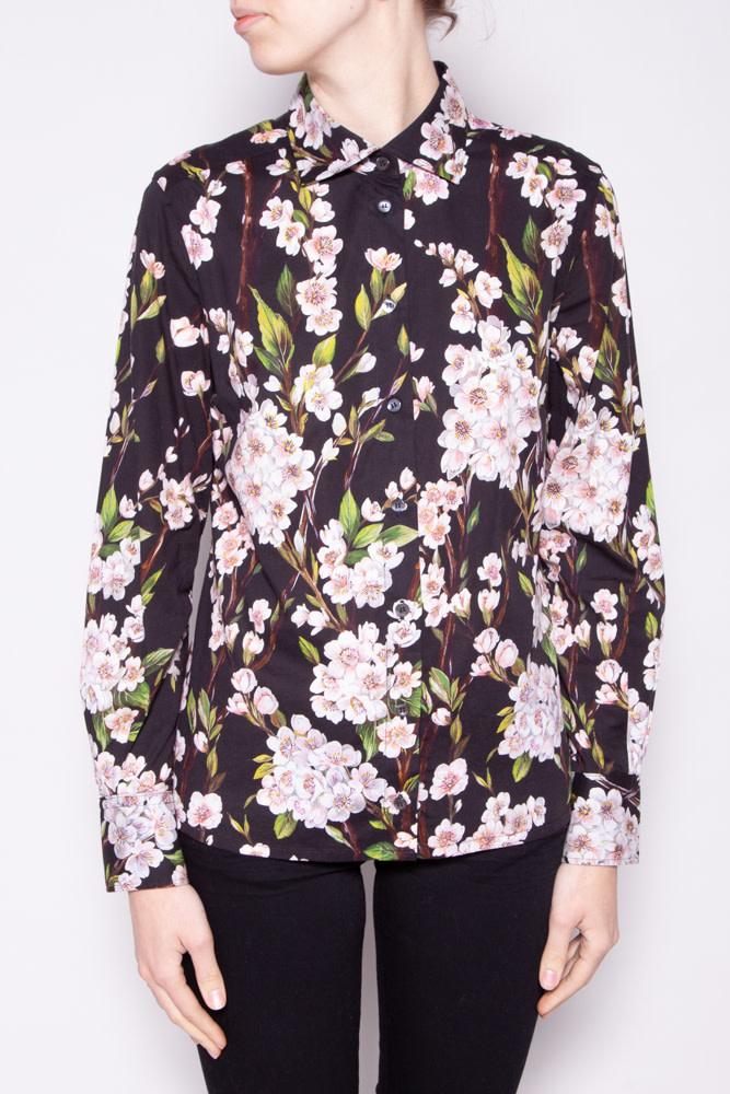 Dolce & Gabbana BLACK FLORAL SHIRT