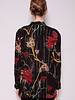 Ba&sh PETUNIA BLACK & GOLD FLORAL BLOUSE - NEW WITH TAG