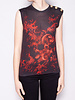 Balmain GRAY TOP WITH RED DRAGONS