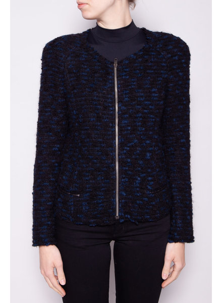 Isabel Marant BLACK AND BLUE WOOL JACKET
