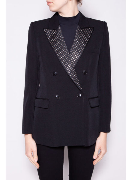 Isabel Marant BLACK SUIT JACKET WITH STUDDED LAPEL