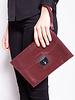 Hermès BURGUNDY LEATHER VINTAGE ''JET'' CLUTCH