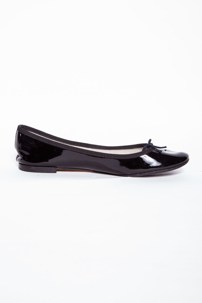 Repetto BLACK PATENT LEATHER BALLERINA