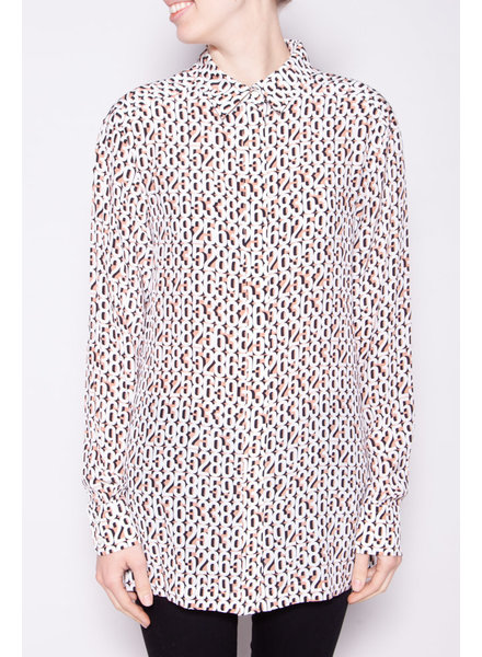 Sportmax NEW PRICE (WAS $180) - SILK NUMBERS PRINT BLOUSE (SIZE 12)