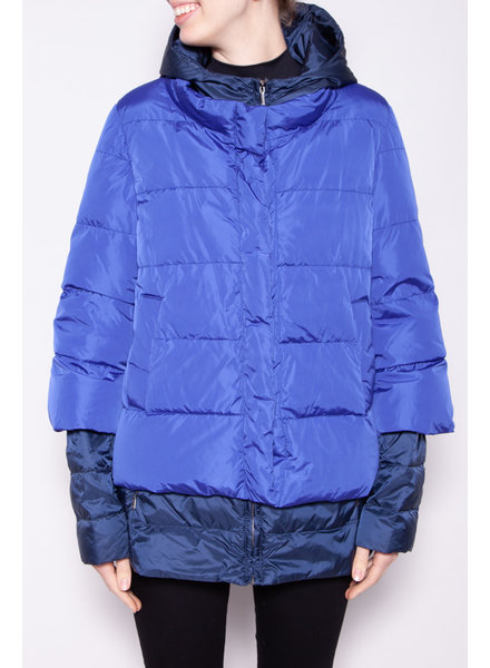 Weekend Max Mara BLUE DOUBLE PUFFER
