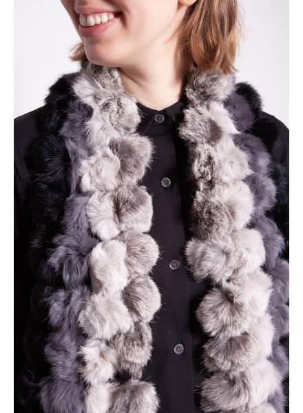 Holt Renfrew OMBRAY GREY FUR SCARF