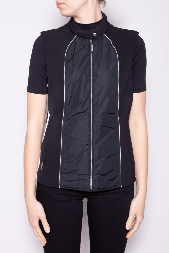 Escada Sport BLACK AND WHITE SLEEVELESS JACKET