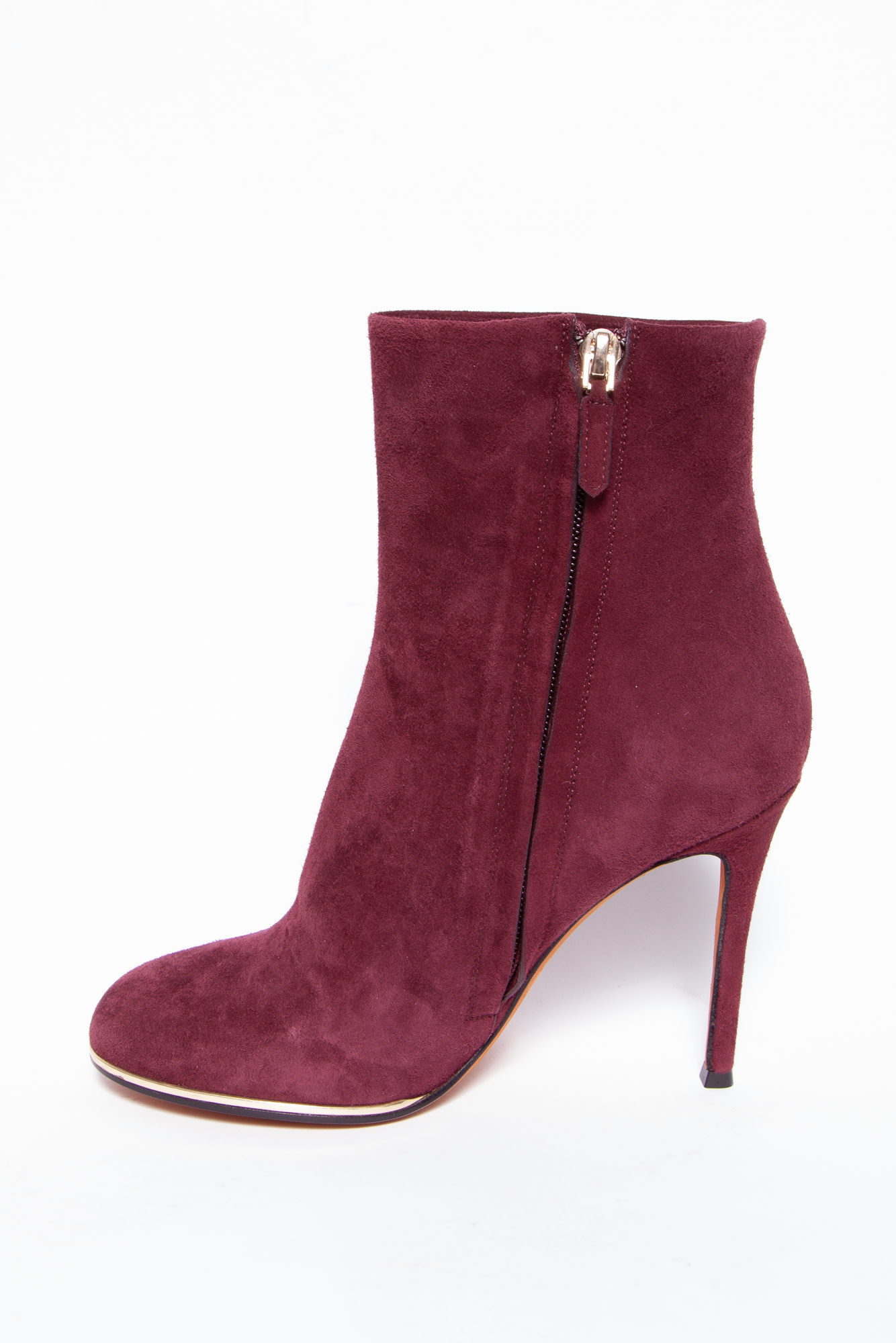 Givenchy BURGUNDY SUEDE ANKLE BOOTS - NEW