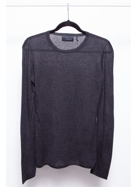 Line LONG SLEEVE DARK GRAY TOP