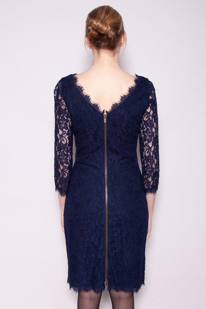Diane von Furstenberg BLUE LACE DRESS