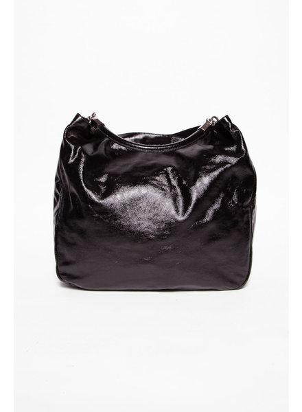 Yves Saint Laurent NEW PRICE (WAS $695) - BLACK PATENT ''ROADY'' HOBO BAG
