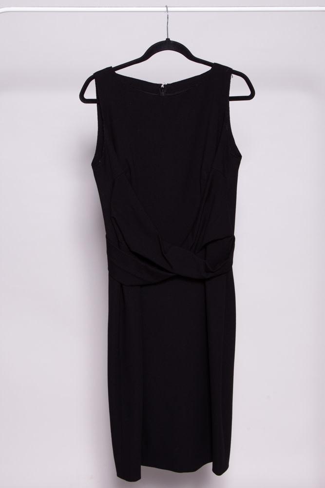 Akris Punto BLACK CROSS-WAIST DRESS