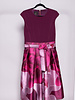 Ted Baker PINK BI-MATERIAL FLORAL PRINTED DRESS