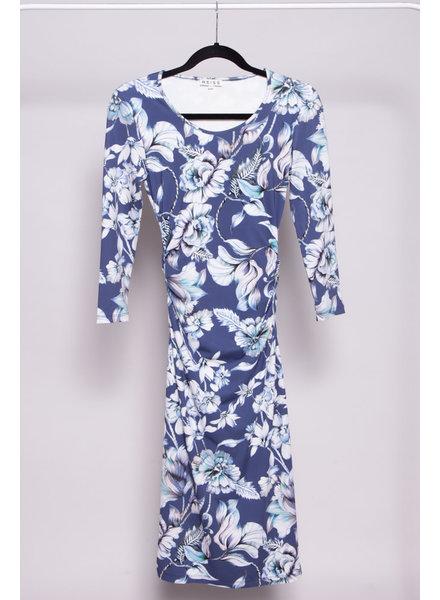 Reiss BLUE  FLORAL PRINT DRESS