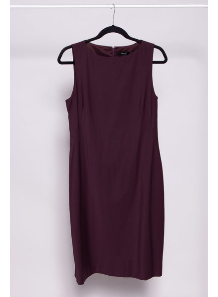 Theory EGGPLANT STRAIGHT DRESS - NEW WITH TAGS