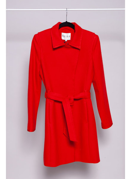 Reiss RED COAT MADE OF WOOL - NEW WITH TAGS