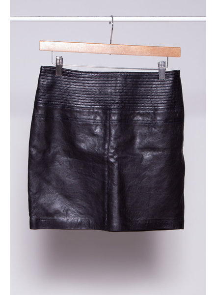 My Sunday Morning BLACK LEATHER MINI SKIRT