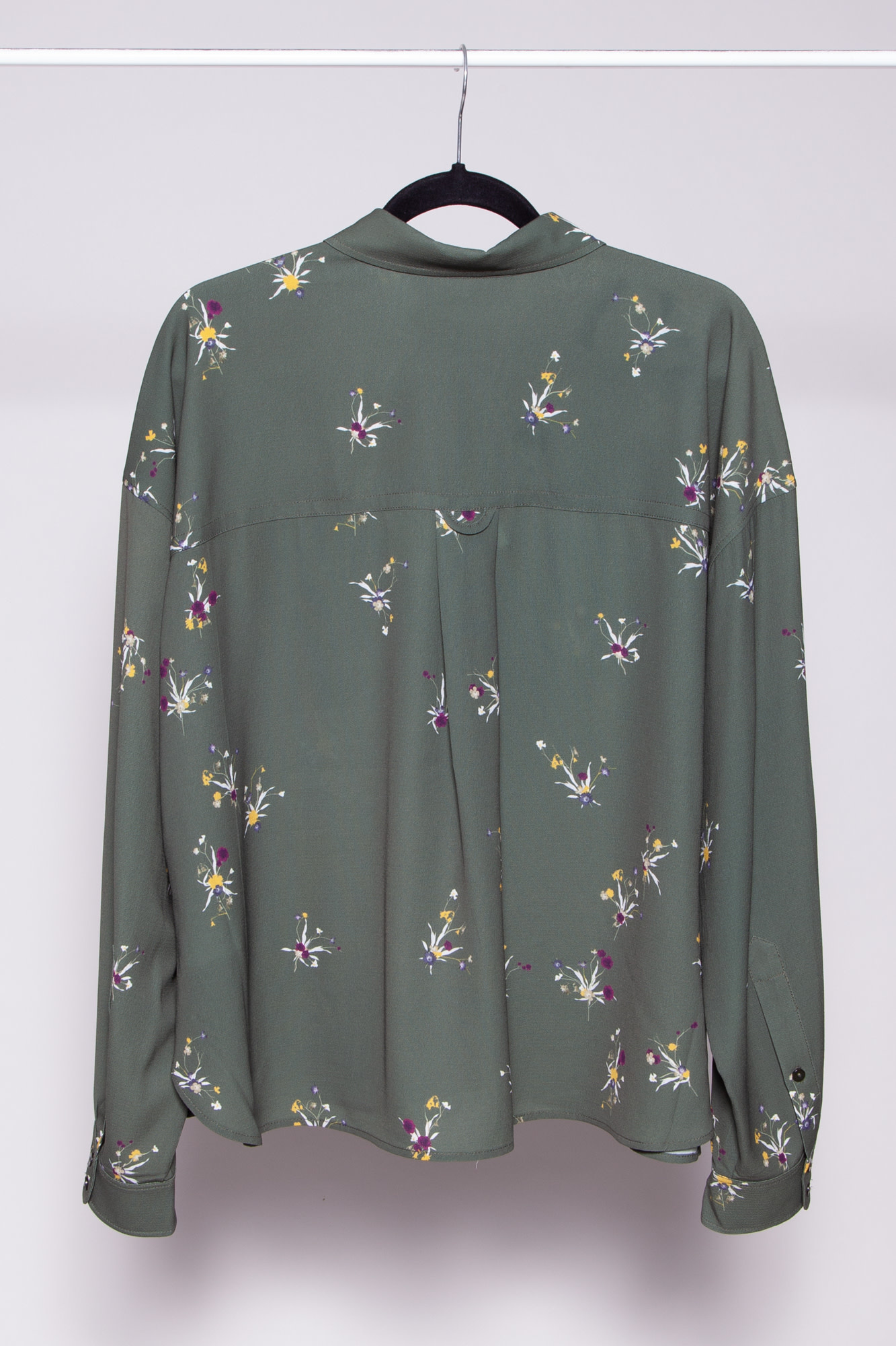 FWSS GREEN FLORAL-PRINT RECYCLED POLYESTER SHIRT - NEW