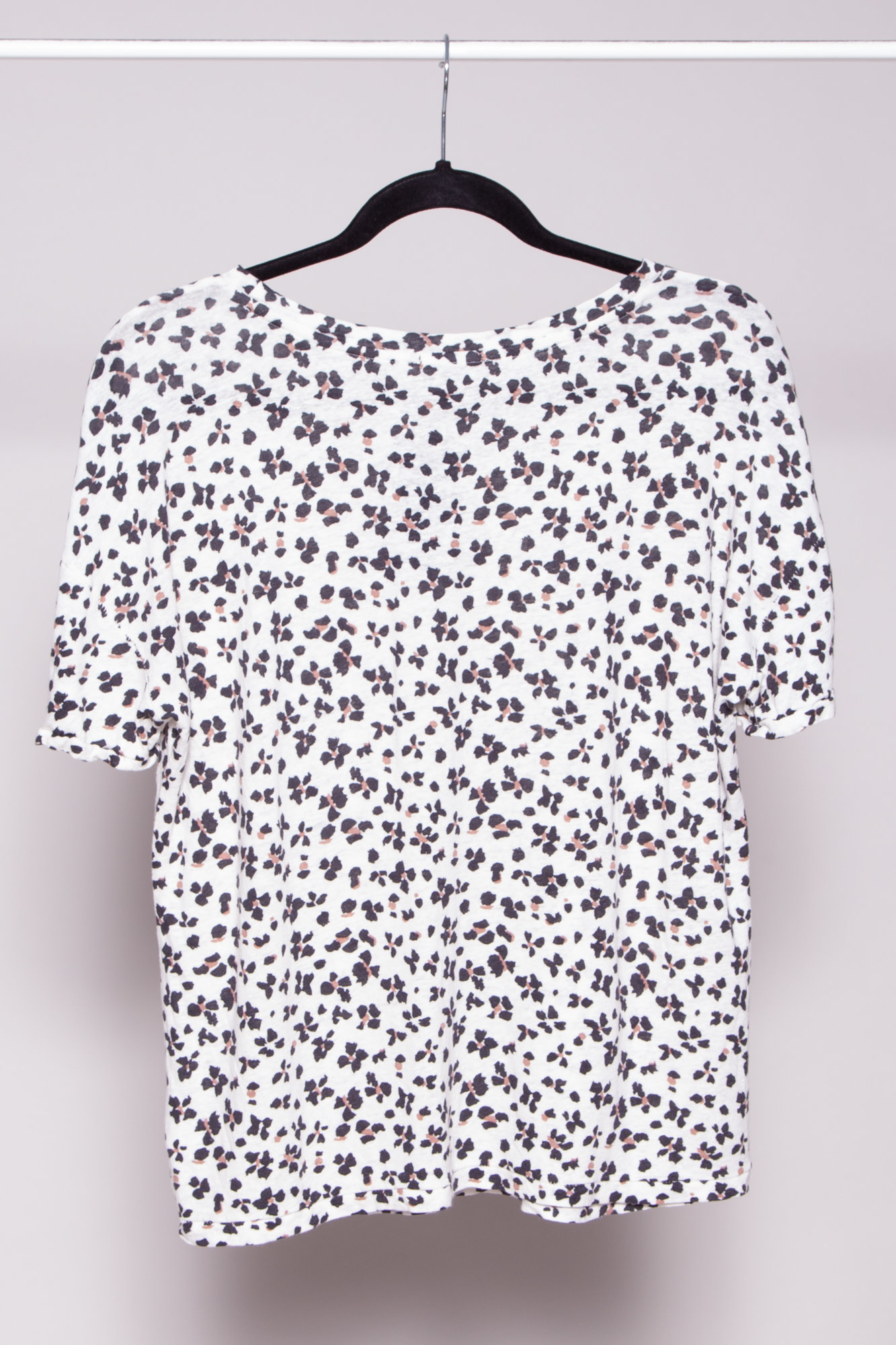 Rails CHEETAH-PRINT T-SHIRT WITH LINEN - NEW