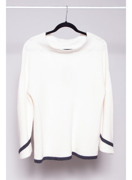 Charli IVORY SOLA RIBBED-KNIT SWEATER - NEW WITH TAGS