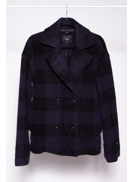 Rails BLUE AND BLACK DOUBLE BREASTED COAT - NEW WITH TAGS
