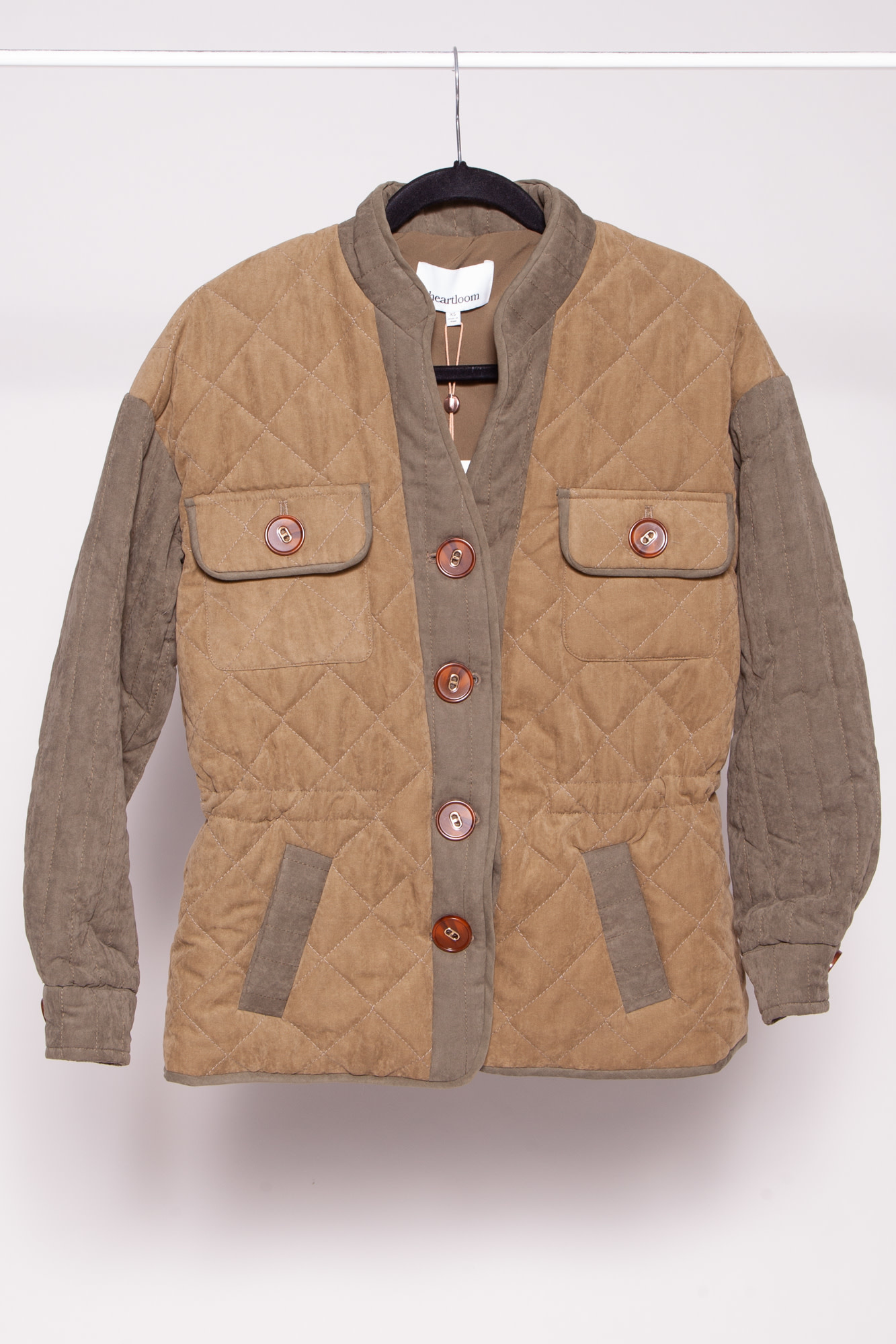 Heartloom KHAKI QUILTED MASON COAT - NEW WITH TAGS