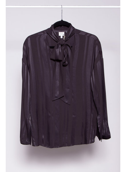 Charli NEW PRICE (WAS $90) - BLACK BLOUSE WITH PUSSYBOW - NEW WITH TAGS