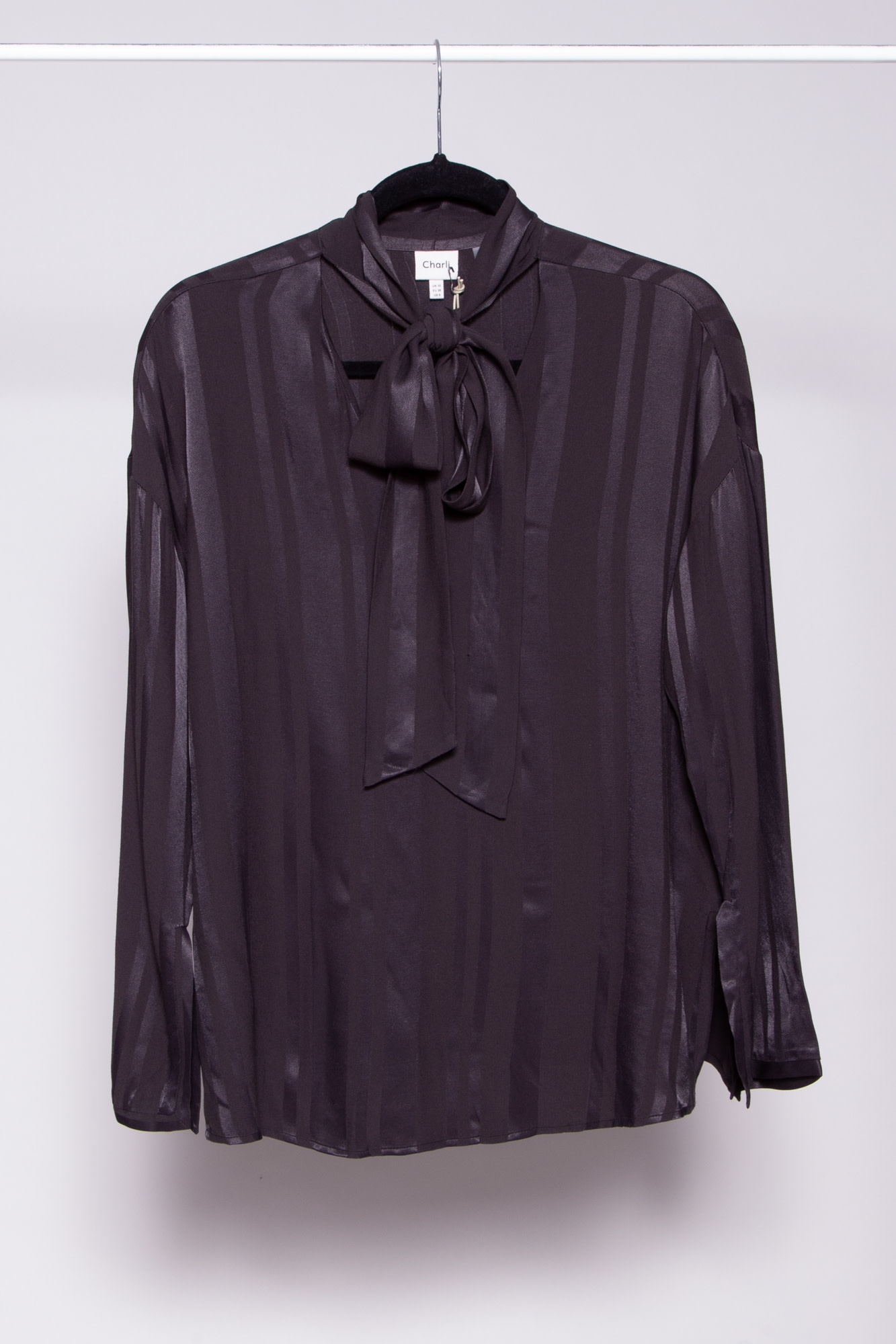 Charli BLACK BLOUSE WITH PUSSYBOW - NEW WITH TAGS