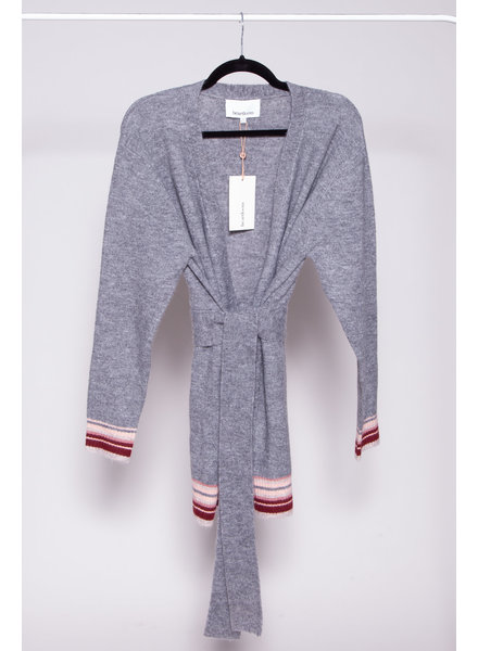 Heartloom GREY CARDIGAN WITH BELT - NEW WITH TAGS