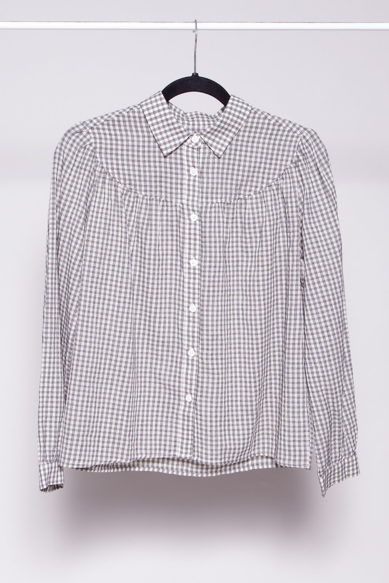 Rails BLUE AND WHITE PLAID COTTON SHIRT - NEW WITH TAGS