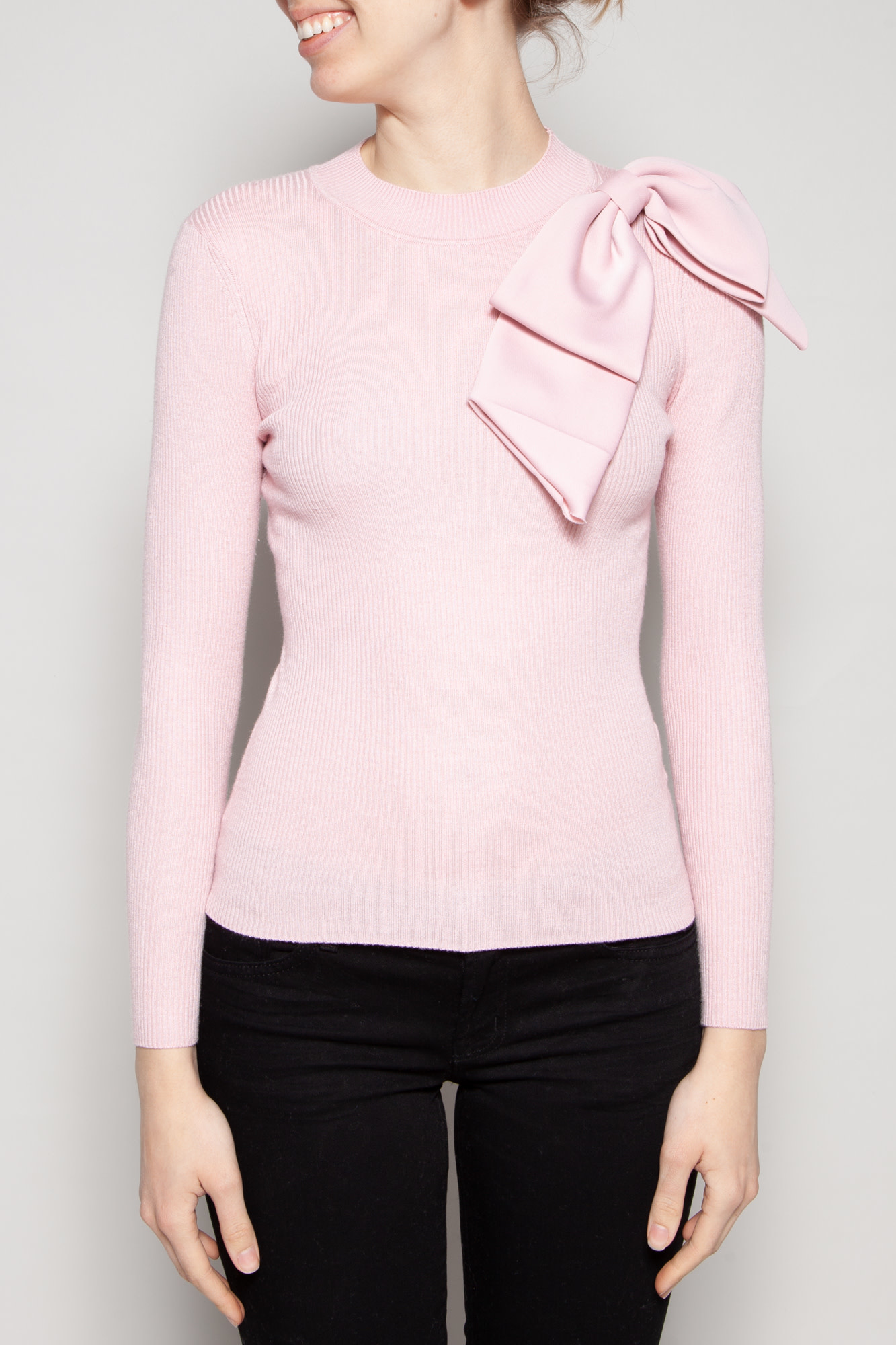 Ted Baker PINK SWEATER WITH REMOVABLE BOW