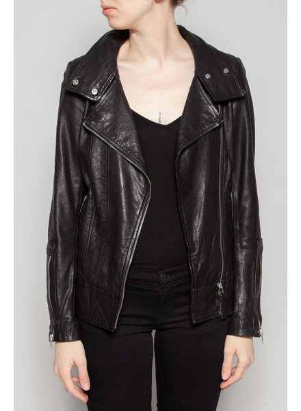 Mackage HIGH NECK LEATHER JACKET