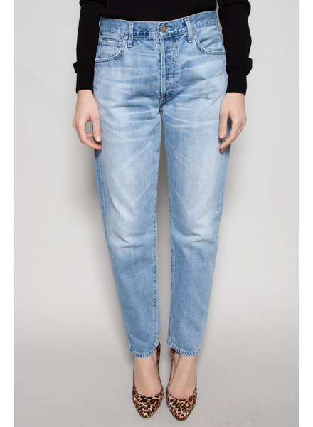 Citizens of Humanity LIGHT BLUE STRAIGHT JEANS WITH BUTTONS