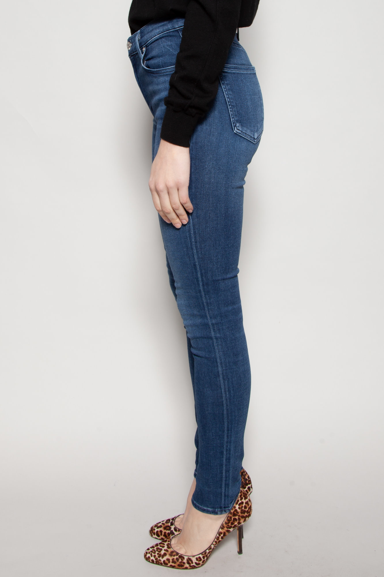 Citizens of Humanity FITTED NAVY JEANS