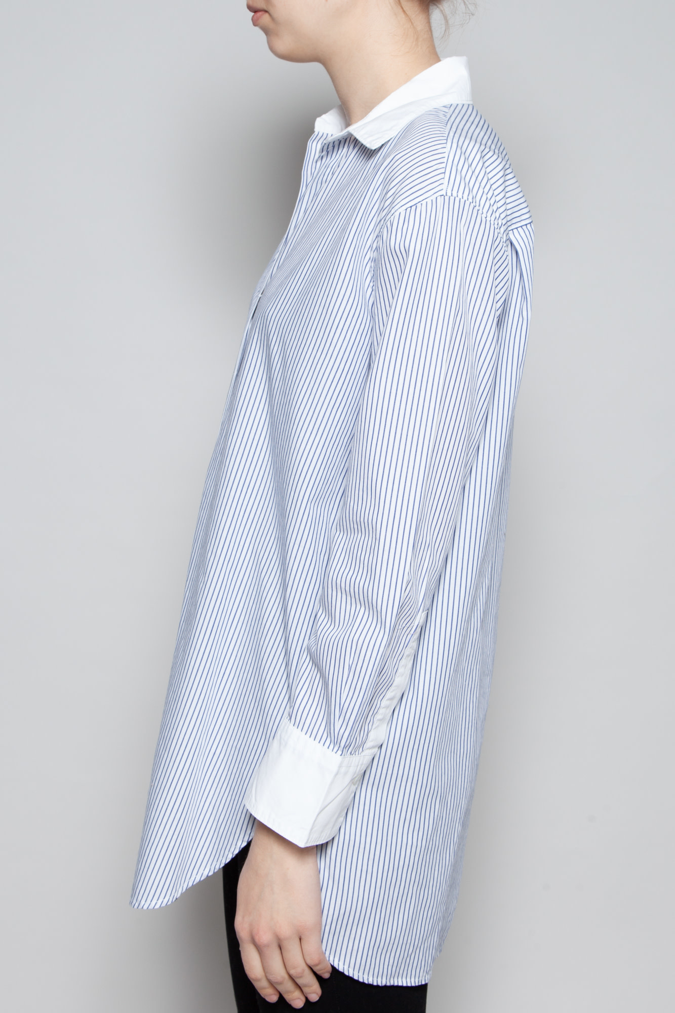 Diega WHITE AND BLUE STRIPED SHIRT